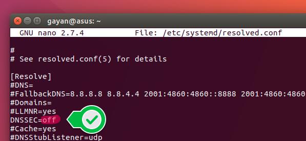 Ubuntu DNS adjustment - Lab:: - Tenten Academy